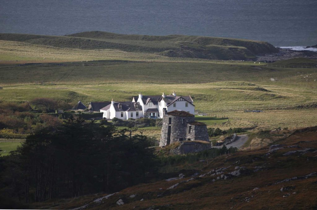 The Lodge, with the Broch in foreground